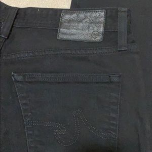 AG Graduate jeans, size 29, hemmed to 39.5 inches